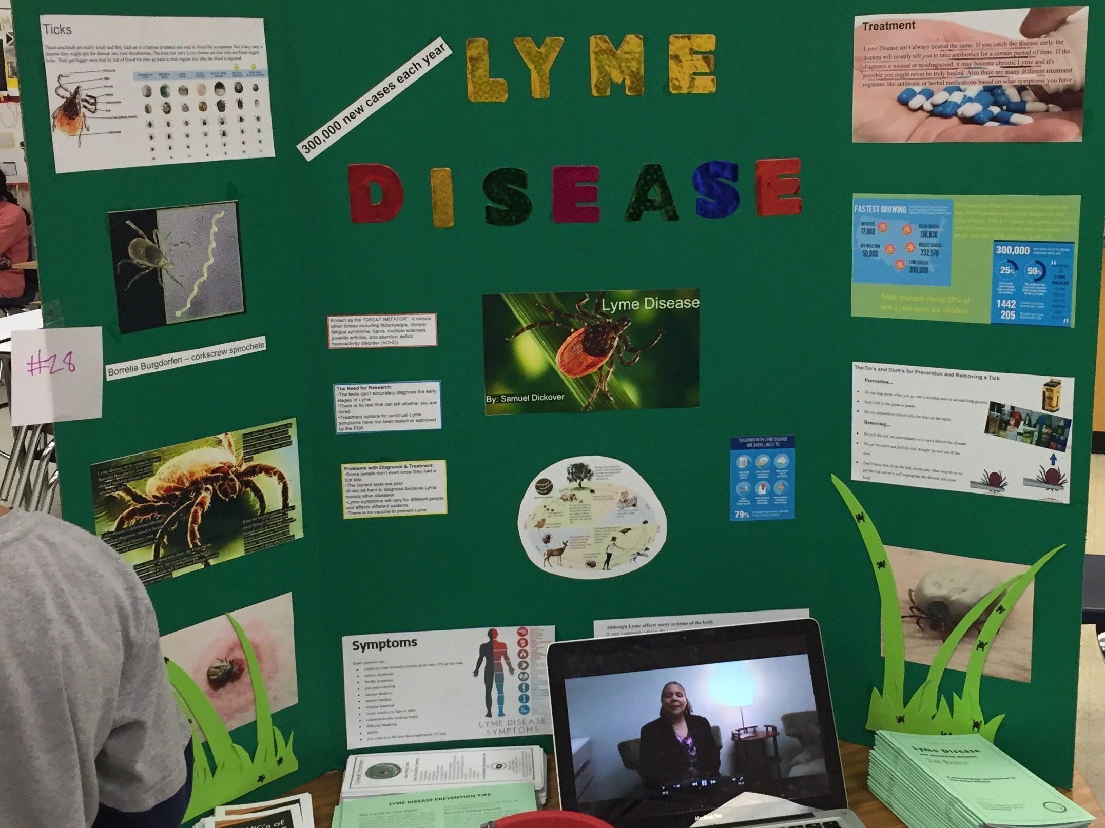 Lyme poster at fair